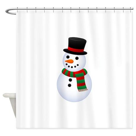 Snowman Shower Curtain By SynkkaEnkeli