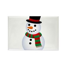 snowman Rectangle Magnet (10 pack)
