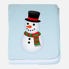 snowman baby blanket
