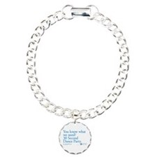 30 Second Dance Party Quote Charm Bracelet, One Ch