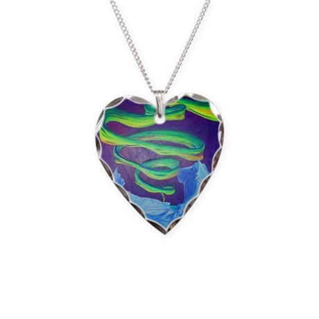 Icebergs Necklace Heart Charm