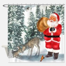 Santa Is Coming 2 Shower Curtain