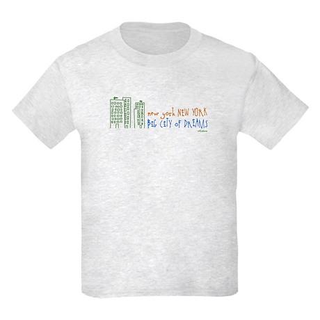 NY, NY Big City of Dreams Kids T-Shirt