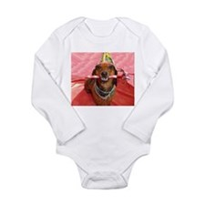Party Animal Dachshund Onesie Romper Suit