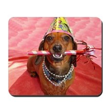 Party Animal Dachshund Mousepad