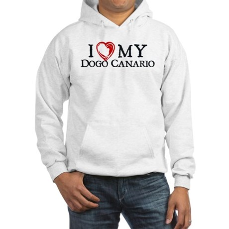 I Heart My Dogo Canario Hooded Sweatshirt
