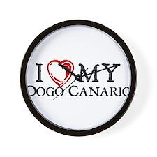 I Heart My Dogo Canario Wall Clock
