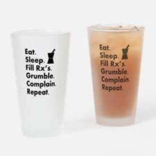 pharmacy eat sleep grumble.PNG Drinking Glass