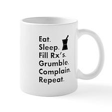 pharmacy eat sleep grumble.PNG Small Mugs