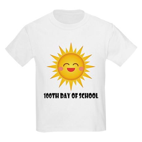 100th Day Of School Sun Kids Light T-Shirt