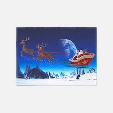 Santa Claus 5'x7'Area Rug