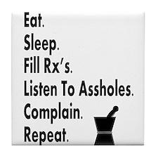 pharmacy eat listen to assholes.PNG Tile Coaster