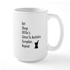pharmacy eat listen to assholes.PNG Mug