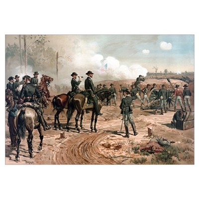 Digitally restored Civil War artwork featuring Gen Poster