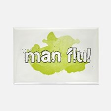 MAN FLU! Rectangle Magnet
