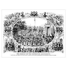 DIgitally restored Civil War print depicting the 1 Poster