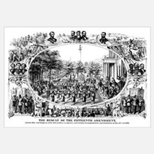 DIgitally restored Civil War print depicting the 1