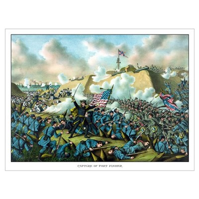 Digitally restored Civil War print depicting the U Canvas Art