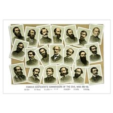 Digitally restored Civil War print featuring Confe