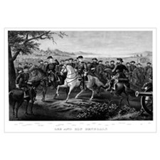 Digitally restored Civil War print of General Lee