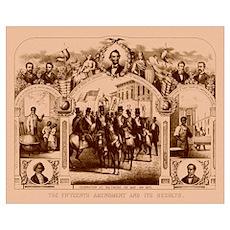 Digitally restored Civil War print of The Fifteent Poster