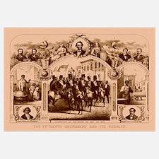 Digitally restored Civil War print of The Fifteent