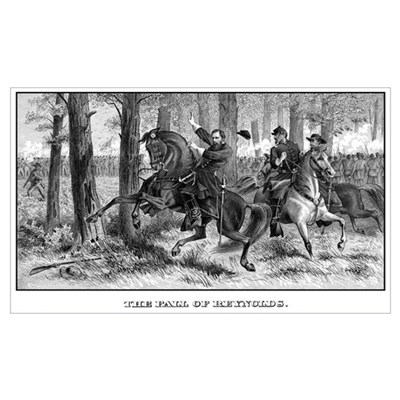 Digitally restored Civil War print of Union Genera Poster
