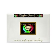 HIGH ON GIN Rectangle Magnet