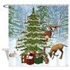 Christmas In The Forest Shower Curtain