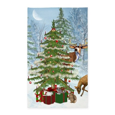 Christmas In The Forest 3'x5' Area Rug