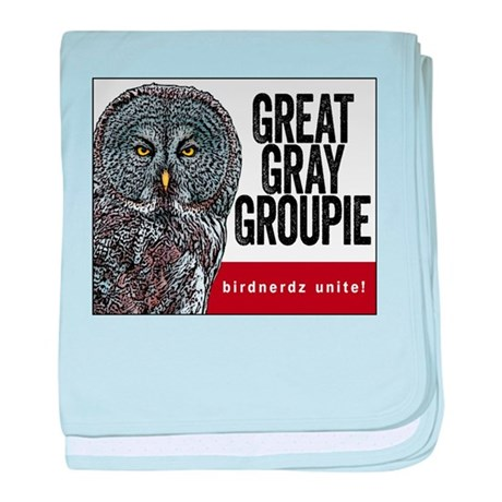 Great Gray Groupie baby blanket