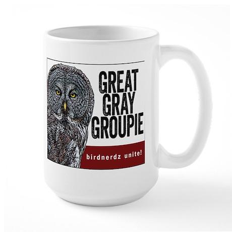 Great Gray Groupie Large Mug