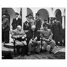 Digitally restored photo of Winston Churchill, Fra Poster