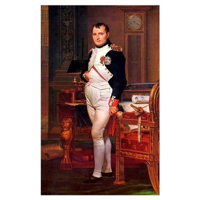 Digitally restored vector painting of Napoleon Bon Framed Print