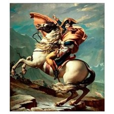 Digitally restored vector painting of Napoleon Bon Canvas Art