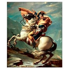 Digitally restored vector painting of Napoleon Bon Poster