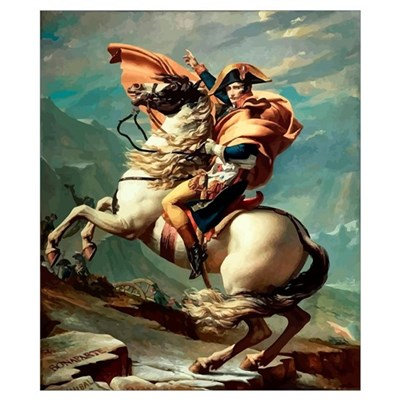 Digitally restored vector painting of Napoleon Bon Poster