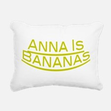Anna Is Bananas Rectangular Canvas Pillow