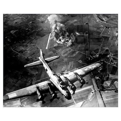 Digitally restored vector photo of a B-17 Flying F Poster