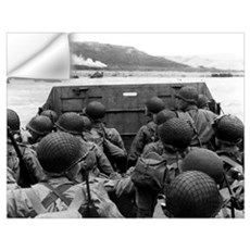 Digitally restored vector photo of American troops Wall Decal