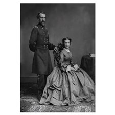 Digitally restored vector photo of General George