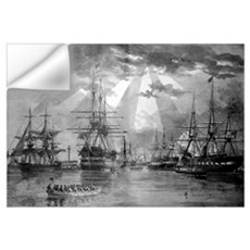 Digitally restored vector photo of U.S. Naval Ship Wall Decal