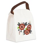 Petrykivka Flowers I Canvas Lunch Bag