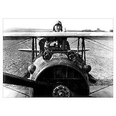 Digitally restored vector photograph of World War  Poster