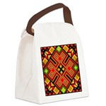 Folk Design 4 Canvas Lunch Bag