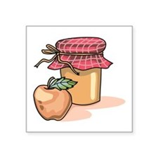 "Apple Butter Jam Square Sticker 3"" x 3"""