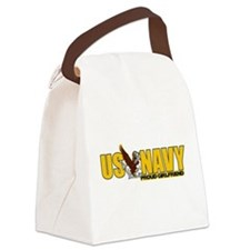 Proud Navy Girlfriend Canvas Lunch Bag