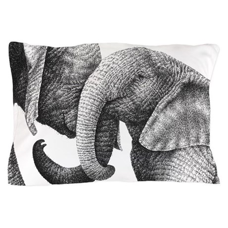 Young African Elephants Pillow Case