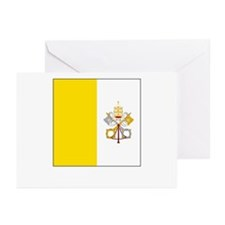 Vatican City Flag Picture Greeting Cards (Package
