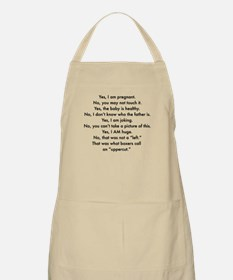 Pregnant and irritable Apron